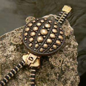 Steampunk Necklace - Zipper Necklac..